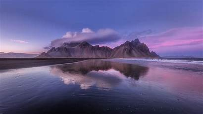 Clouds Iceland Mountain Laptop Background Coast Tablet