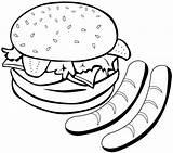 Coloring Sausage Dog Hamburger Cartoon Melting Coloringpagesfortoddlers Disimpan Dari Mitraland sketch template