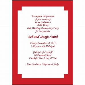 25 personalized 40th wedding anniversary party invitations for 40th wedding anniversary invitations