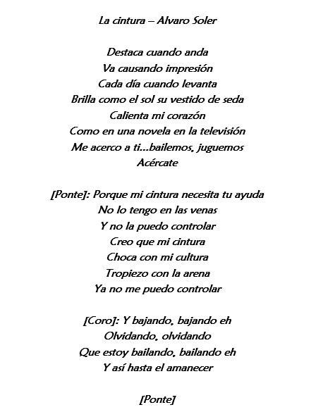 Traduzione Testo - la cintura di alvaro soler traduzione testo e