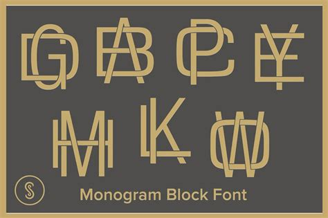 premium monogram fonts  hyperpix