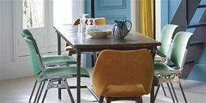 Chaise Moderne Avec Table Ancienne : osez les chaises d pareill es pour une d co personnalis e marie claire ~ Teatrodelosmanantiales.com Idées de Décoration