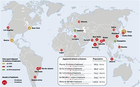 Carte Des Grandes Villes Du Monde by Carte Des 10 Plus Grandes Villes Du Monde Carte Du Monde