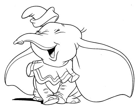 walt disney animal dumbo elephant coloring pages