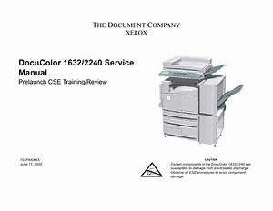 Xerox Docucolor 1632 2240 Parts List And Service Manual