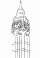 Coloring Ben Kingdom United Castle Windsor Printable Tower London sketch template