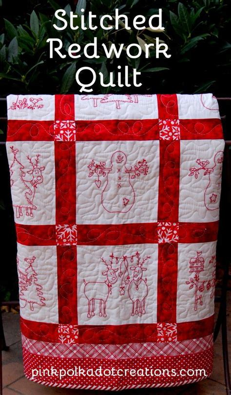 17 Best ideas about Red Work Embroidery on Pinterest