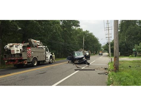 Boat Crash Into Pole by Toms River Car Crashes Into Pole Causes Power Outages