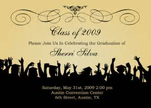 graduation invite wording template best template collection