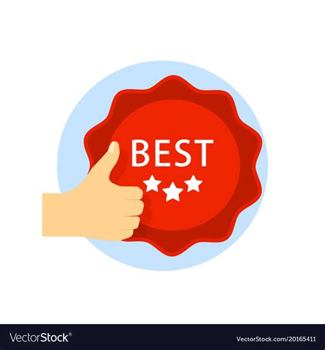Best Choice by Best Choice Icon With Thumb Up And Emblem Isolated