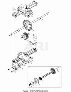 Troy Bilt 13ax60kh011 Super Bronco  2008  Parts Diagram For Transmission Assembly 618