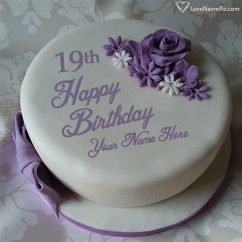 beautiful violet rose  birthday cake