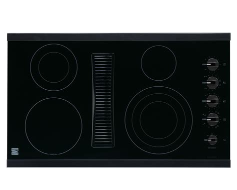 electric cooktop with vent kenmore elite 44129 36 quot downdraft electric cooktop black