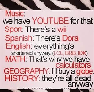 I hate school | Funny stuff / Quotes | Pinterest | Pretty ...