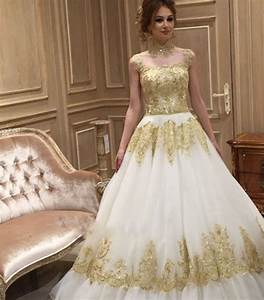 popular gold ivory wedding dresses buy cheap gold ivory With white and gold wedding dresses