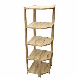 Etagere En Angle : etagere d 39 angle en pin ~ Teatrodelosmanantiales.com Idées de Décoration