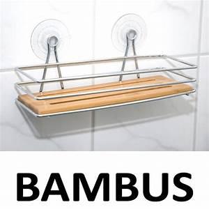Regal Für Dusche : bambus bad dusch regal badablage ablage duschregal dusche saugn pfe badezimmer ebay ~ Eleganceandgraceweddings.com Haus und Dekorationen