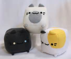 cat plushie cat plush cat pillow plushie stuffed cat cube