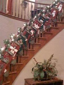 Christmas Stair Decor on Pinterest