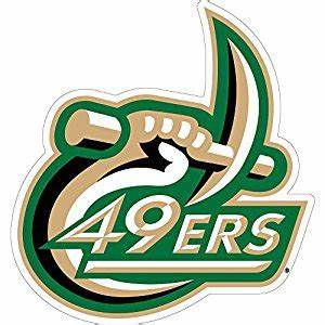 amazoncom unc charlotte 49ers logo magnet sports With kitchen cabinets lowes with 49ers car sticker