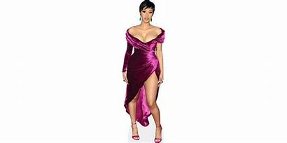 Cardi Purple Cutout Cardboard Celebrity Cutouts Lifesize