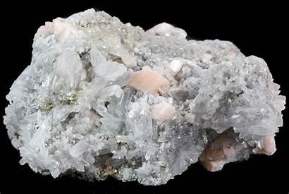 Quartz Dolomite Pyrite China Pink Crystals Minerals