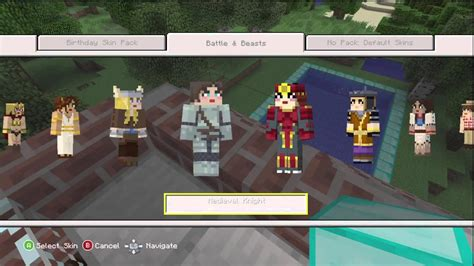 minecraft xbox  battle beasts skin pack overview