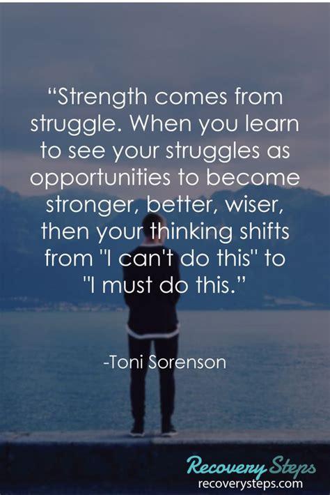 strength   struggle   learn