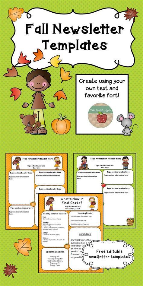 fall themed newsletter templates newsletter