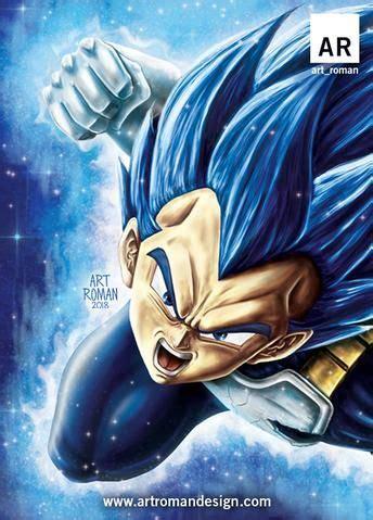 vegeta super saiyan blue evolution dragon ball art