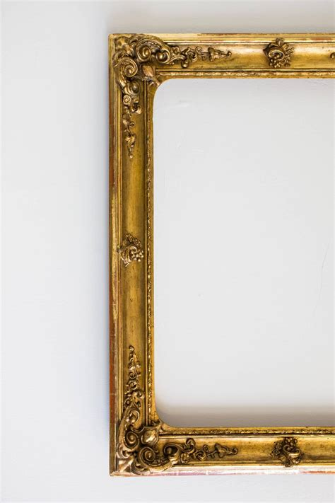 Gorgeous Large Gilded Baroque Picture Frame From Circa