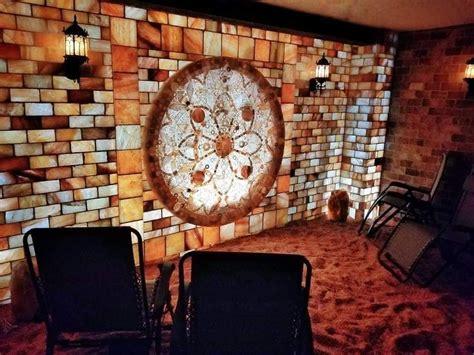 himalayan salt cave  centered stone