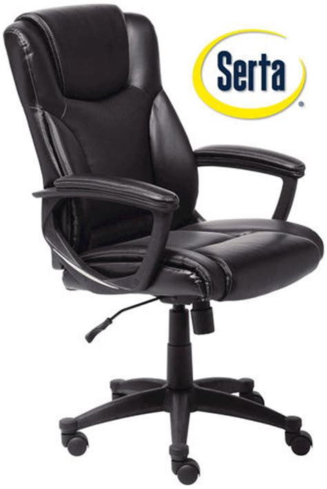 serta 25 quot black bonded leather office chair at menards 174