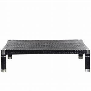 karl springer embossed crocodile print leather and chrome With crocodile coffee table