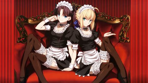 girls maids  anime wallpapers  images