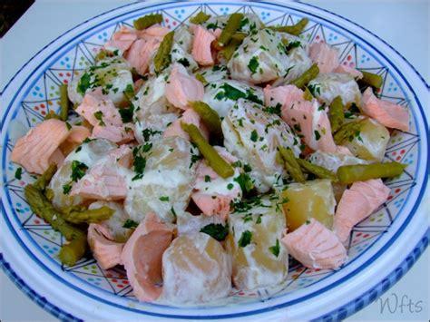 salade de pommes de terre et saumon sauce l 201 g 200 re