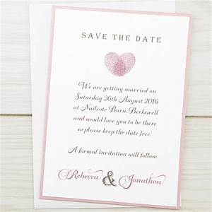 thumb print save the date pure invitation wedding invites With images of save the date wedding invitations