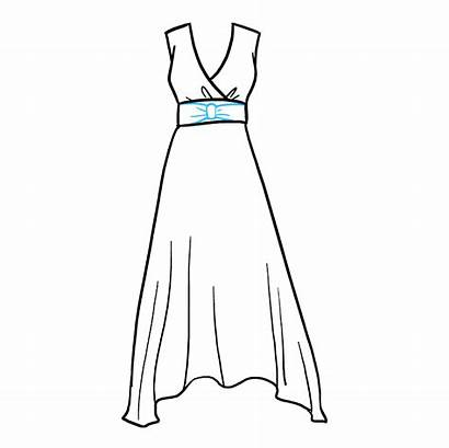 Easy Drawing Draw Drawings Clothes Dresses Garment