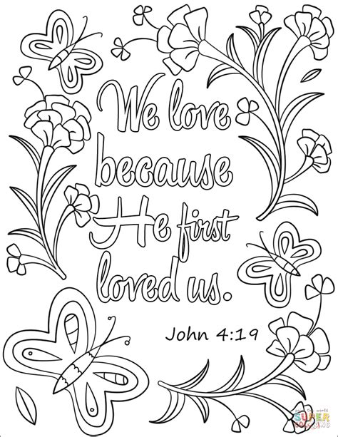 love    loved  coloring page  bible