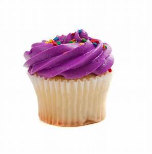 Purple Cupcake With Sprinkles On White Stock Image - Image ...