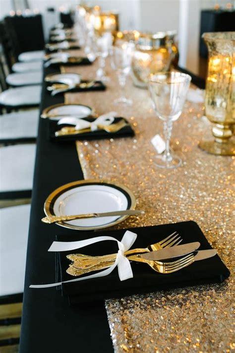 black  gold wedding color ideas  fall winter