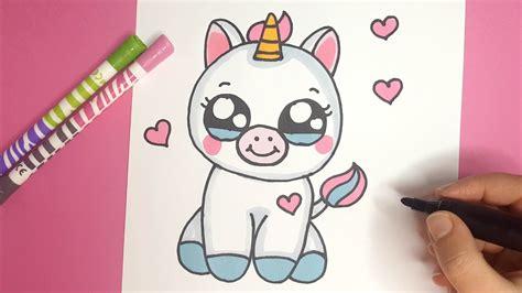 süße bilder zum malen wie zeichnet ein niedliches baby einhorn kawaii einhorn malen