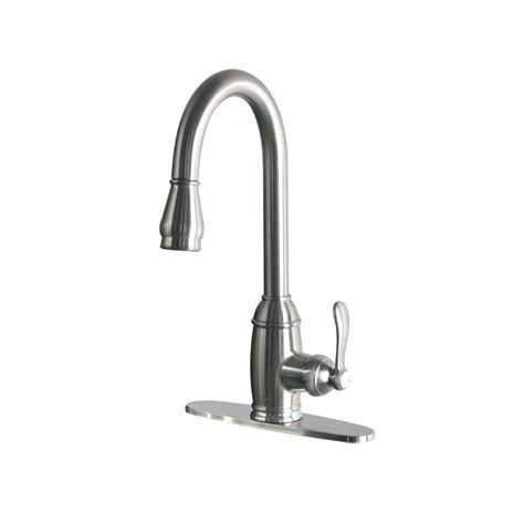 foret kitchen faucets foret single handle pull sprayer kitchen faucet