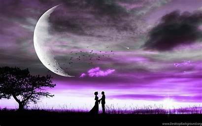 Theme Romantic Wallpapers Themed Purple Young Heart
