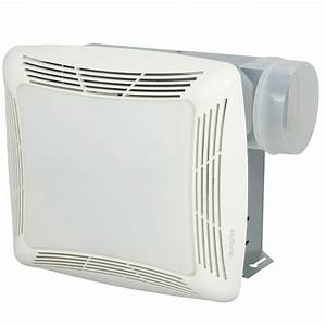 Nutone cfm ceiling exhaust fan with light white grille