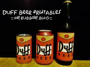 simpsons birthday party ideas birthday banner duff With duff beer label