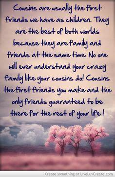 friend cousin quotes quotesgram