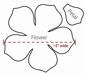 5 petal flower pattern template - Clipground