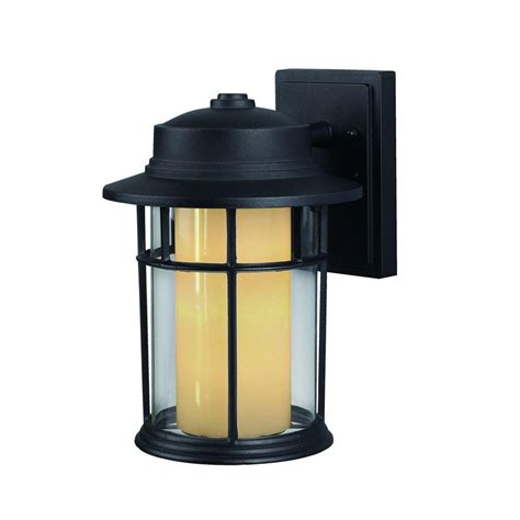 canarm 1 light black outdoor wall lantern with