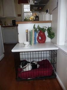 custom tops for wire dog crates With turn dog crate into table